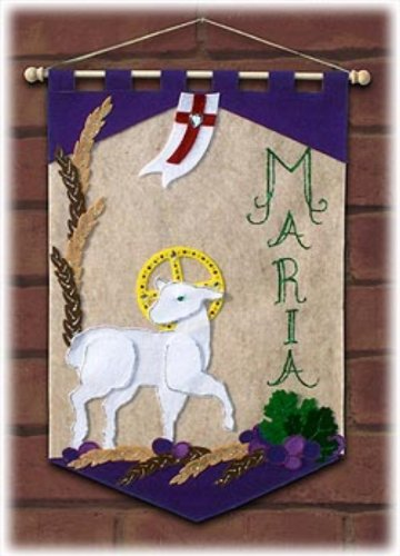 First Communion Candy (First Communion Banner Kit - 12 x 18 - Lamb)
