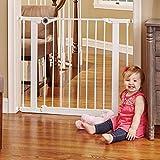 North States 38.1' Essential Walk-Thru Gate: Ideal for securing hallways or doorways. Extra-Wide Doorway. Pressure Mount. Fits 29.8' - 38.1' Wide (30' Tall, White)