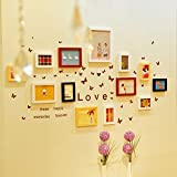 ZGP Home@Wall photo frame Solid Wood Photo Wall Fashion Creative Photo Wall Frame Wall Combination Home Improvement Frame Wall (Color : A)