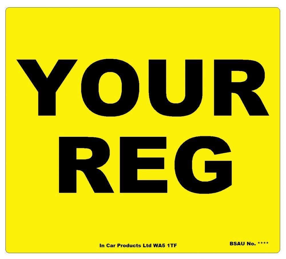Front Standard GB Border MOT UK Road Legal Car Van Reg Registration Number Plate