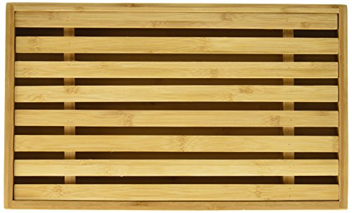 Danesco 3020215 Bamboo Bread Cutting Board with Crumb Catcher, 15 by 9-Inch