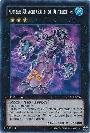 Yu-Gi-Oh! - Number 30: Acid Golem of Destruction (YS13-ENV09) - Super Starter Power-Up Pack - 1st Edition - Common