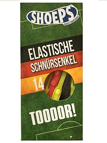 Schoeps - cordones elásticos para los zapatos, Negro (Negro) Deutschland Mix