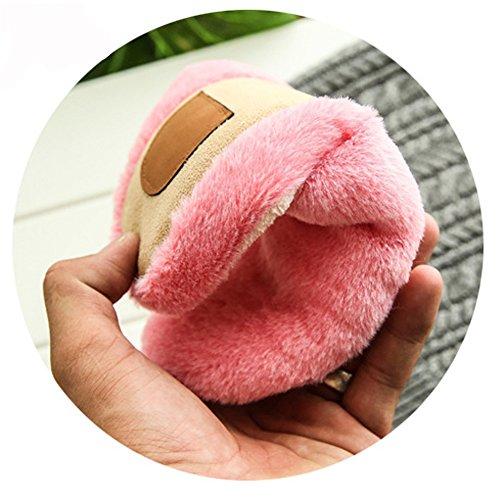 Saguaro Femme Slippers Pantoufles Coton Peluche Intérieure Douce Automne Doublure Chaussons Accueil Mules Hiver Chaussures Rose Homme rYrwTq