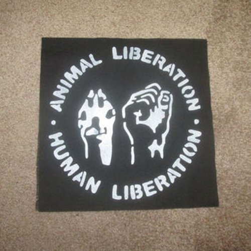 Amazon.com: Human liberation animal liberation vegan patch ...