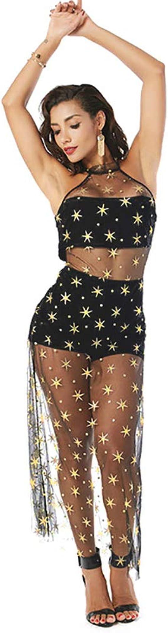 Vestido de Playa de Verano de Encaje Transparente Transparente con ...