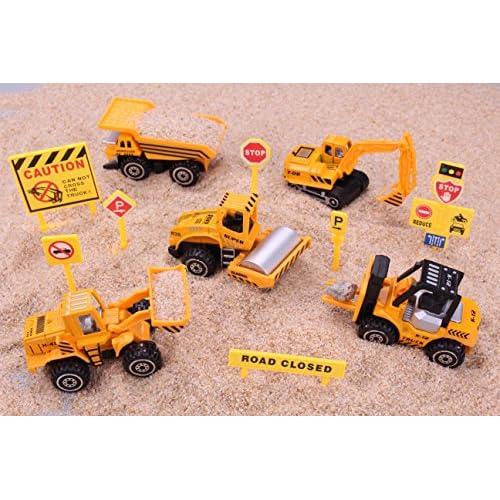 best Construction Toys Sets, 5 Pieces Mini Vehicles