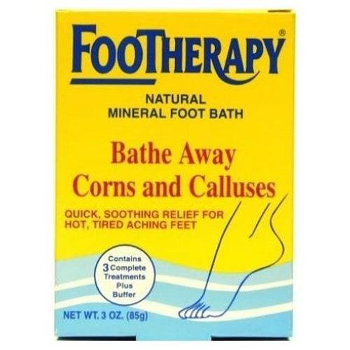 FooTherapy Natural Mineral Foot Bath, Soothing Relief For Tired, Sore Feet, 3 packets (Pack of 6) ()