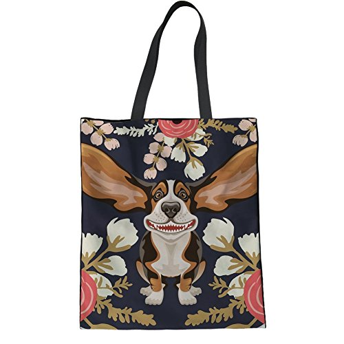 Cc1684z22 Le Taglia White Showudesigns 2 Per Tote Donne Bag Dog Pwy6dqI