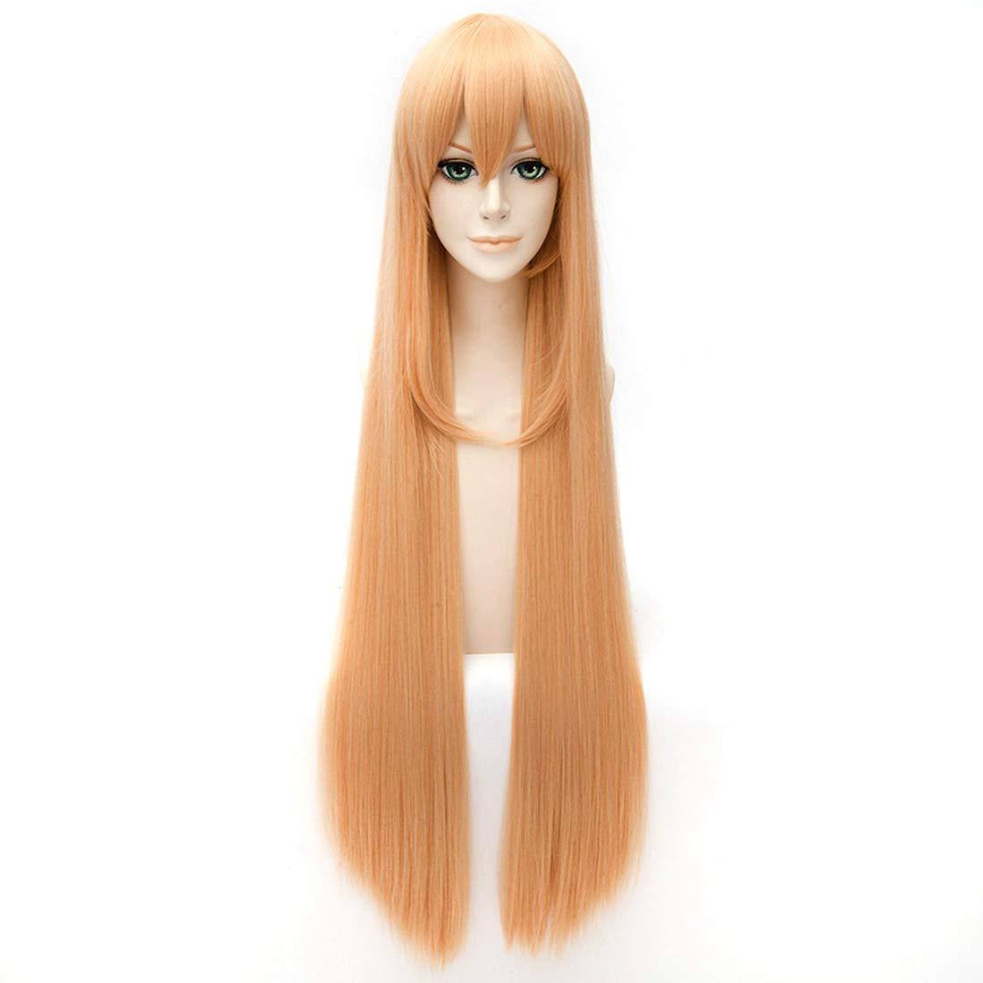 Amazoncom Hoolaza Blonde Long Straight Inward Curly Hair Tailwig