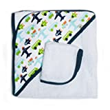 Jj Cole Two-Piece Hooded Towel Set White Vroom by JJ Cole