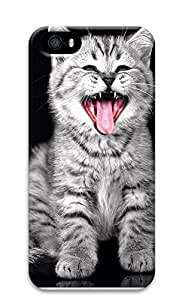iPhone 5 5S Case Cat Yawning 3D Custom iPhone 5 5S Case Cover