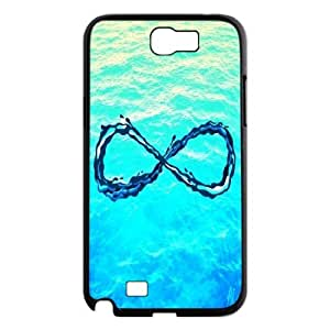 Top Quality DIY Hard Back Cover Case for Samsung Galaxy Note 2 N7100 - Infinity Love Phone Case JZQ-903251