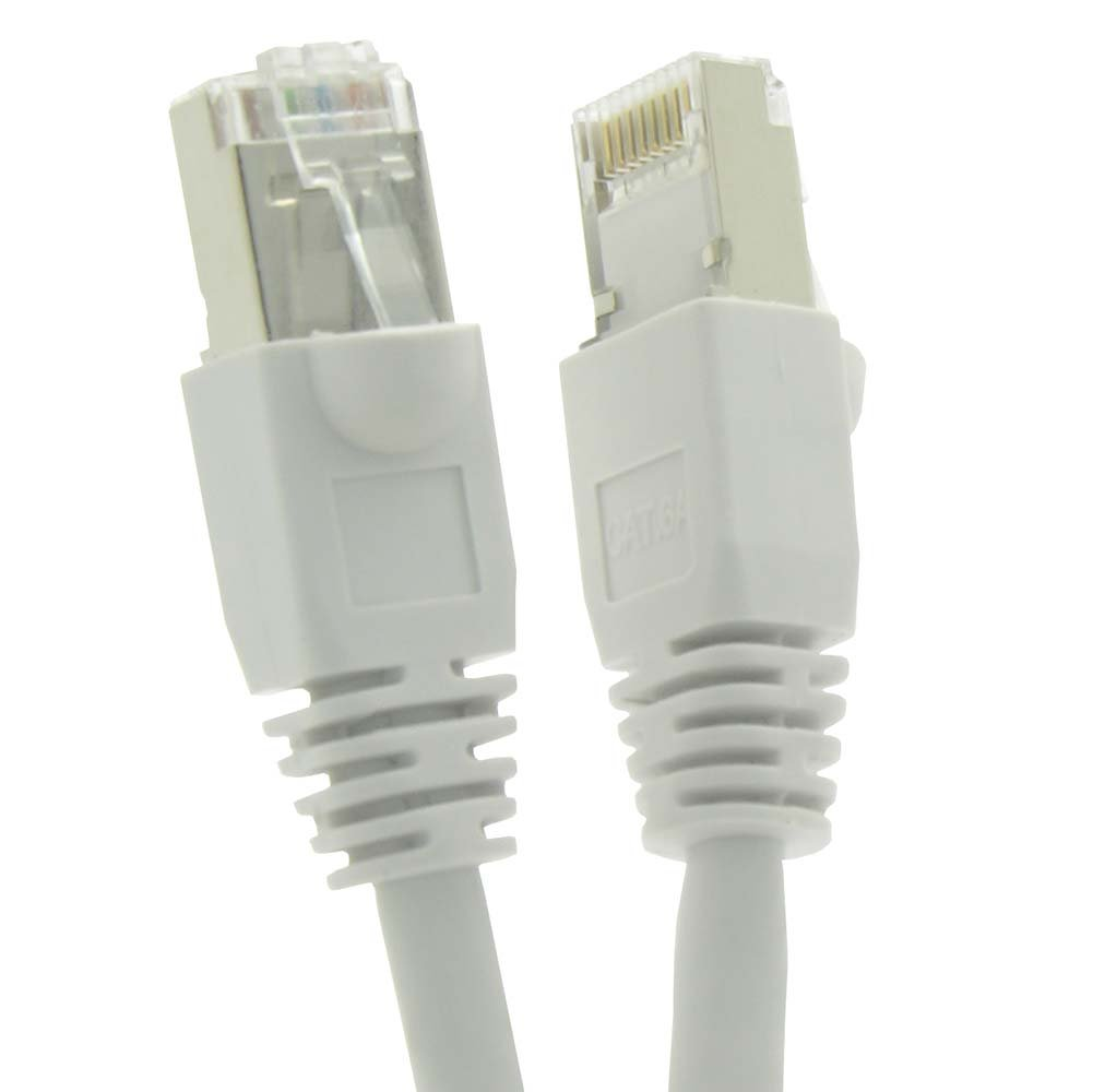26AWG Network Cable with Gold Plated RJ45 Molded//Booted Connector GOWOS Cat6a Shielded Ethernet Cable 550MHz 20-Pack - 5 Feet 10 Gigabit//Sec High Speed LAN Internet//Patch Cable Black
