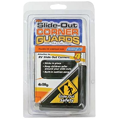 Camco 42203 Black Slide-Out Corner Guard - Pack of 4: Automotive