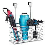 mDesign Over-the-Door Bathroom Hair Care & Styling Tool Organizer...