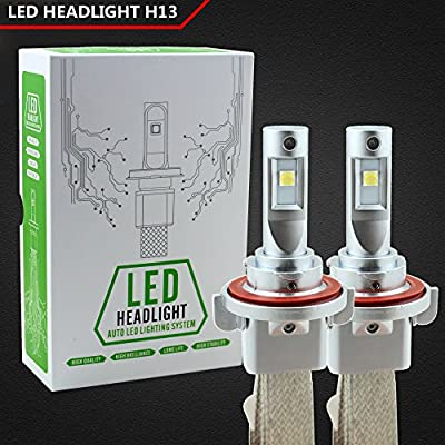 Raych Cree XHP50 Chip Led Headlights Heat Dissipation with Copper Metal 40W 5000LM Conversion Kit H4 H7