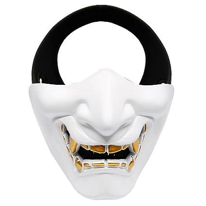 Pawaca Máscara de Media Cara, Máscara de Halloween para Disfraz de Cosplay, Fiesta,