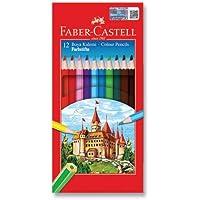 Faber-Castell 5171116312 Karton Kutu Boya Kalemi, 12 Renk