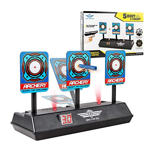 LtrottedJ Auto-Reset Intelligent Light Sound Effect Scoring Targets Toys