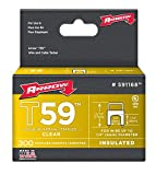 Arrow Fastener 591168 1/4'' X 1/4'' Clear T59 Staples