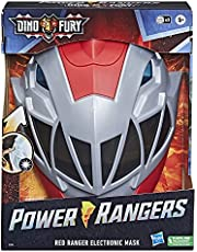 Power Rangers Dino Fury Red Ranger Electronic Mask Roleplay Toy for Costume and Dress Up Inspired by the Power Rangers TV Show Ages 5 and Up