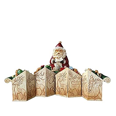 Enesco Pillars Santa s Sleigh 9-Piece Musical Set, 9.25-Inch