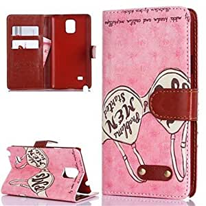 HP Samsung Galaxy Note 4 compatible Special Design PU Leather Full Body Cases