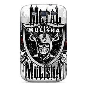 KerryParsons Samsung Galaxy S3 Shock Absorbent Hard Phone Covers Unique Design High-definition Metal Mulisha Skin [Yzs4707lSSq]