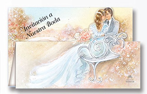 Spanish Wedding Invitation Four Color Part Processing. Packages of 100