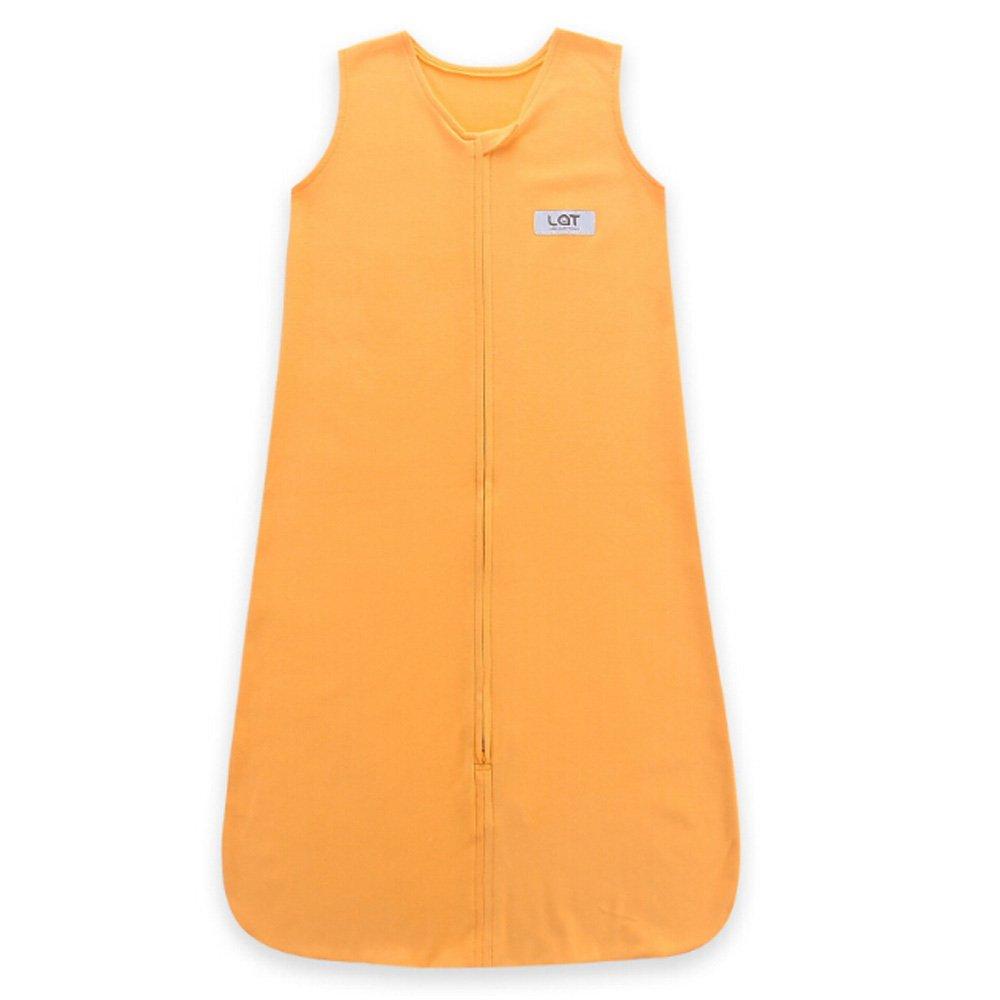 LAT 100/% Cotton Jersey Baby Sleeping Bag 6-18 Months Unisex Sleepsack Swaddle Sleeveless Sleepwear Romper for Toddler Boys Girls Grey