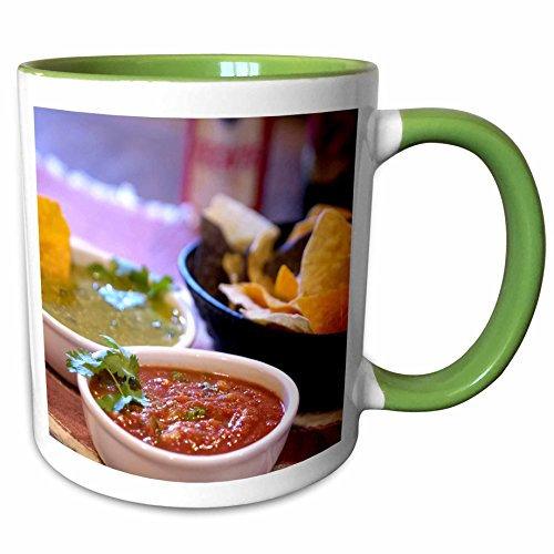 3dRose Danita Delimont - Cuisines - Tomatillo, Mexican cuisine, Destin, FL - US10 FVI0004 - Franklin Viola - 11oz Two-Tone Green Mug - Destin Fl Outlet