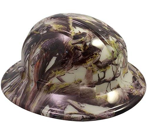 Texas America Safety Company America Camo Full Brim Style Hydro Dipped Hard Hat - Glow in the Dark]()