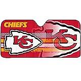 1pc NFL Kansas City Chiefs Red Logo Reflective Aluminum Sun Shade New Universal