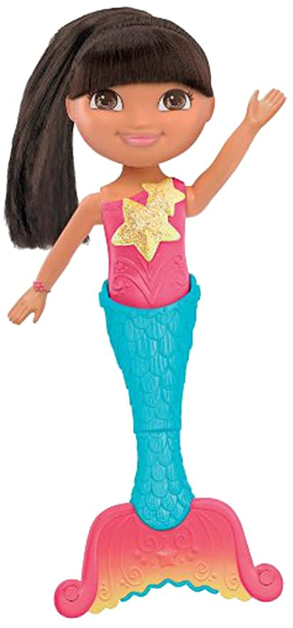 623882d29ea92 Amazon.com: Fisher-Price Dora The Explorer Dive and Swim Mermaid Dora: Toys  & Games