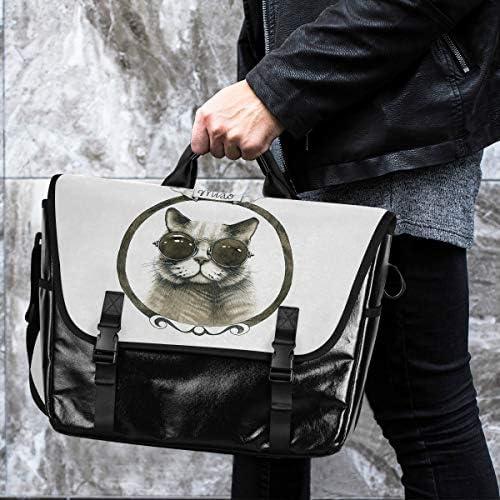 メッセンジャーバッグ メンズ 猫柄 クール レトロ 斜めがけ 肩掛け カバン 大きめ キャンバス アウトドア 大容量 軽い おしゃれ