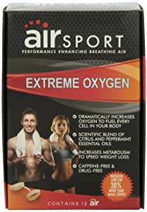 Air Sport Extreme Oxygen - Performance Enhancing Breathing Aid, 12 Count