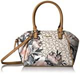 Calvin Klein Monogram Top Zip Dome Satchel, Peony Multi