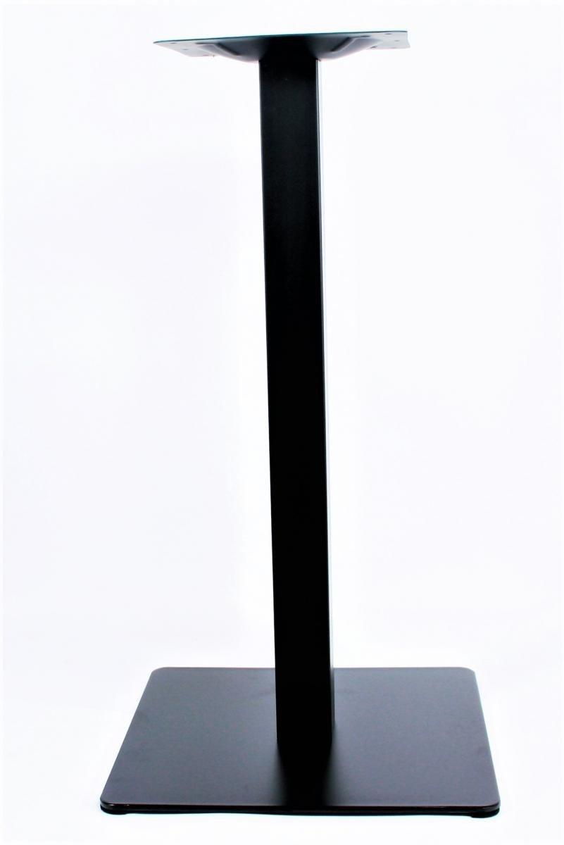 Tischgestell 75 cm, Tischfuß, Edelstahl, Edelstahl, Edelstahl, schwarzes Gestell, eckiger Fuß