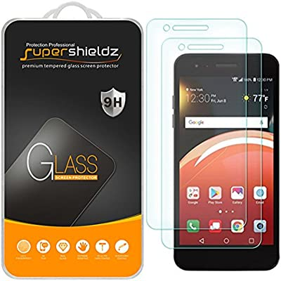 [2-Pack] Supershieldz for LG Zone 4 (Verizon) Tempered Glass Screen  Protector, Anti-Scratch, Bubble Free, Lifetime Replacement