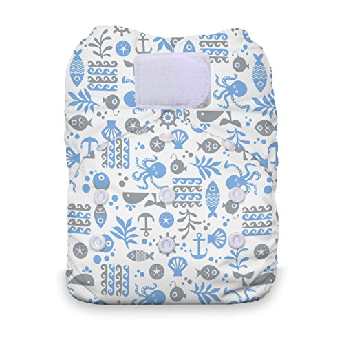 Thirsties Natural One Size All In One Hook & Loop Cloth Diaper