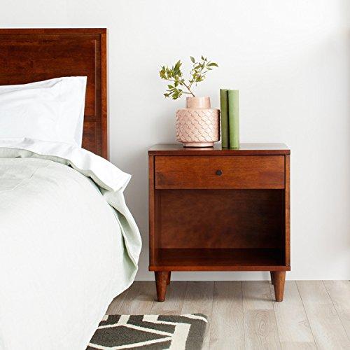 Amazon Com Vilas 1 Drawer Wood Bedroom Nightstand