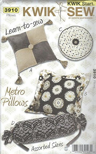 Kwik Sew 3910 Metro Pillows Sewing Pattern supplier:sailorsparadise by instrainclug