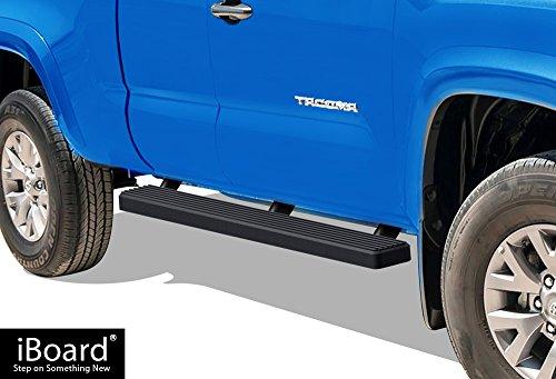 "iBoard Running Boards 5"" Matte Black Custom Fit 2005-2019 Toyota Tacoma Access Cab Pickup (Nerf Bars | Side Steps | Side Bars)"