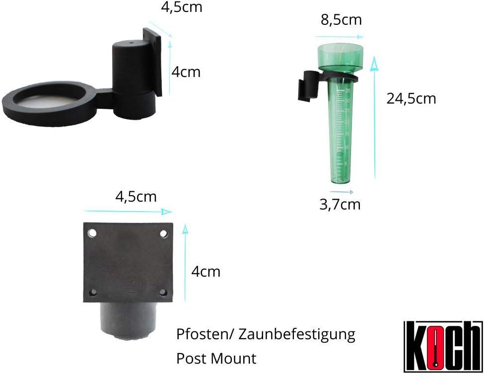 UPKOCH Regenmesser Pfahl Kunststoff Wasserrohr Messger/ät Niederschlagsmesser f/ür Garten Garten Rasen im Freien