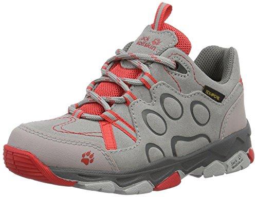 Jack Wolfskin Mtn Attack 2 Cl Texapore K, Zapatos de Low Rise Senderismo Unisex Niños Gris (Hibiscus Red)
