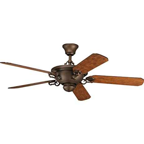 Progress lighting p2527 102 58 inch meeting street ceiling fan roasted java