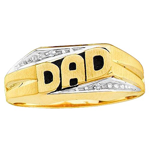 10k Gold Dad Diamond Ring - 1