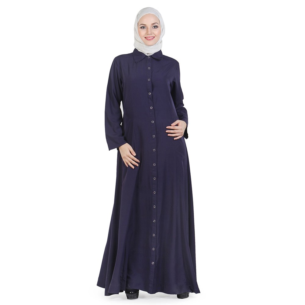 Momin Libas Women's Adifaah Full Front Button Open Abaya