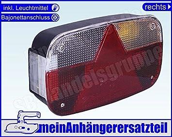 12186 The Drive Asp/öck Earpoint 3 III Leuchte rechts Bajonettanschluss und R/ückfahrlicht
